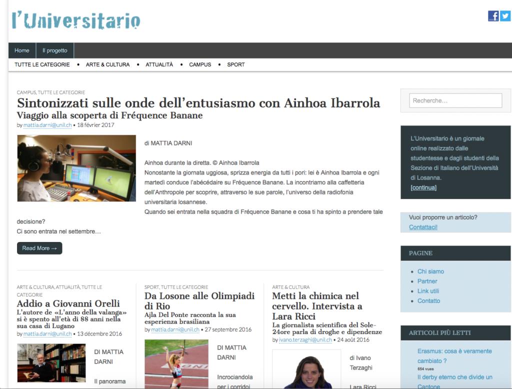 Italian webzine : atelier de journalisme en italien