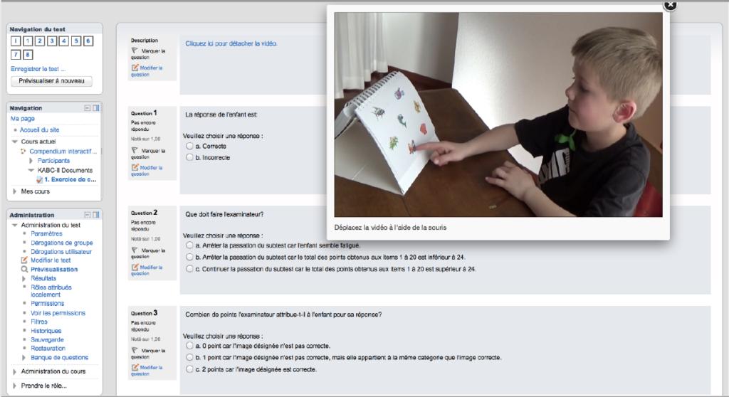 Compendium interactif des tests en psychologie de l'enfant