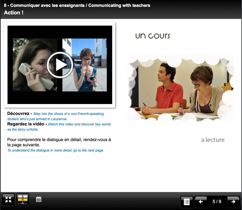 Travailler avec des vidéos destinées à l'enseignement