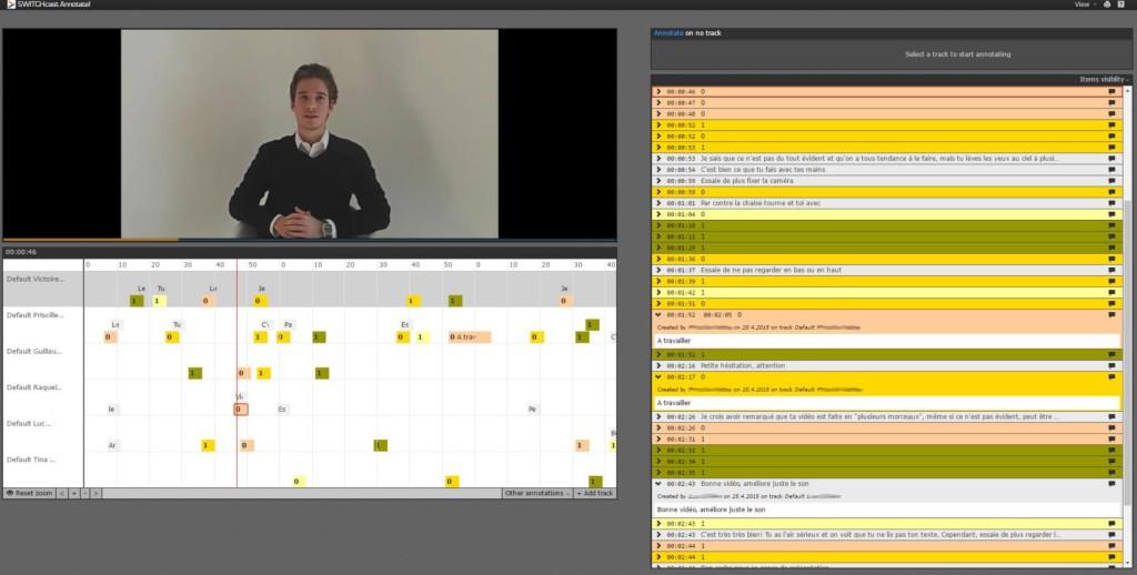 Annotation vidéo avec Switchcast Annotate via Moodle