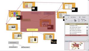 La préparation d'une présentation à partir d'une carte dans VUE